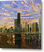 Chicago Metal Print by Mike Rabe