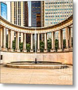 Chicago Millennium Monument In Wrigley Square Metal Print by Paul Velgos