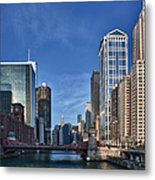 Chicago River Metal Print by Sebastian Musial