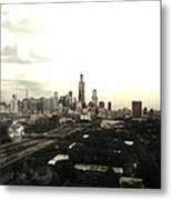 Chicago Skyline Metal Print by Mike Maher