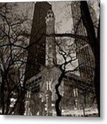 Chicago Water Tower B W Metal Print by Steve Gadomski