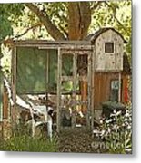 Chicken Coop On The Farm Metal Print by Artist and Photographer Laura Wrede