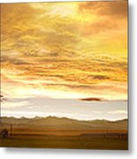 Chicken Farm Sunset 2 Metal Print by James BO  Insogna