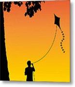 Childhood Dreams 1 The Kite Metal Print by John Edwards