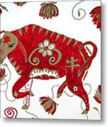 Chinese Year Of The Ox Metal Print by Barbara Giordano