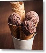 Chocolate Ice Cream Metal Print by Amanda And Christopher Elwell