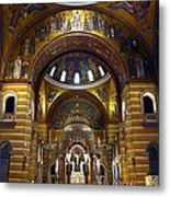 Christ Is Risen - St Louis Basilica Metal Print by Thia Stover