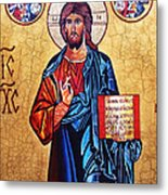 Christ The Pantocrator Metal Print by Ryszard Sleczka