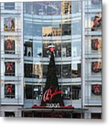 Christmas At San Francisco Macy's Department Store - 5d20550 Metal Print by Wingsdomain Art and Photography