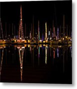 Christmas At Santa Cruz Harbor Metal Print by Loree Johnson