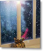 Christmas Candle Metal Print by Brian Wallace