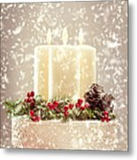 Christmas Candles Metal Print by Amanda And Christopher Elwell