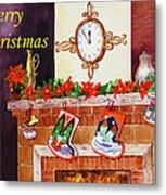 Christmas Card Metal Print by Irina Sztukowski
