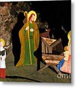 Christmas Crib Scene Metal Print by Gaspar Avila