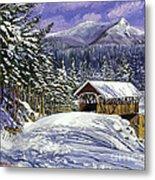Christmas In New England Metal Print by David Lloyd Glover