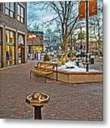Christmas Old Town Metal Print by Baywest Imaging