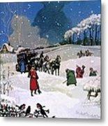 Christmas Scene Metal Print by English School