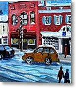 Christmas Shopping In Concord Center Metal Print by Rita Brown