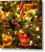 Christmas Tree Background Metal Print by Elena Elisseeva