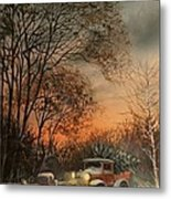 Christmas Tree Delivery Metal Print by Tom Shropshire