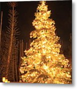 Christmas Tree Lights Metal Print by Boon Mee