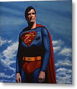 Christopher Reeve As Superman Metal Print by Paul Meijering