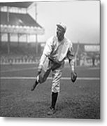 Christy Mathewson Pitching Metal Print by Retro Images Archive