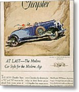 Chrysler 1928 1920s Usa Cc Cars Metal Print by The Advertising Archives