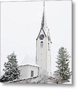 Church In Winter Metal Print by Matthias Hauser