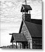 Church On The Mount In Black And White Metal Print by Lee Craig