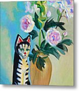 Cicero With Flowers Metal Print by Dan Redmon