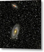 Cigar Galaxy And Bodes Galaxy Metal Print by Reinhold Wittich