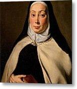 Cignani Carlo, Portrait Of A Nun, 17th Metal Print by Everett