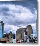 Cincinnati Skyline Clouds Metal Print by Mel Steinhauer