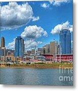 Cincinnati Skyline Metal Print by Mel Steinhauer