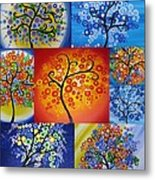 Circle Trees Metal Print by Cathy Jacobs