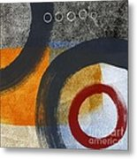 Circles 3 Metal Print by Linda Woods