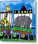 Circus Train Metal Print by Max Kaderabek Age Eight