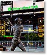 Citizens Bank Park - Mike Schmidt Statue Metal Print by Bill Cannon