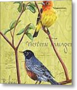 Citron Songbirds 2 Metal Print by Debbie DeWitt