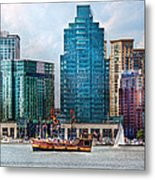 City - Baltimore Md - Harbor East  Metal Print by Mike Savad
