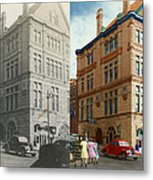 City - Chattanooga Tn - 1943 - The Masonic Temple - Both Metal Print by Mike Savad