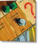 City Island Monopoly Iv Metal Print by Marguerite Chadwick-Juner