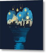 City Lights Metal Print by Neelanjana  Bandyopadhyay