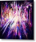 City Nights City Lights Metal Print by Rachel Christine Nowicki