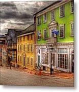 City - Providence Ri - Thomas Street Metal Print by Mike Savad