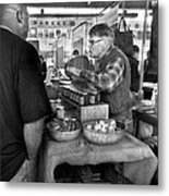 City - South Street Seaport - New Amsterdam Market - Apples And Mustard Metal Print by Mike Savad