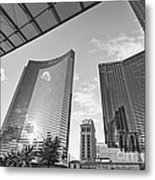 Citycenter - View Of The Vdara Hotel And Spa Located In Citycenter In Las Vegas  Metal Print by Jamie Pham