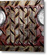 Civilian Jeep- Maroon Metal Print by Luke Moore