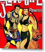Classic Comic Book Cover - Slave Girl Princess - 1110 Metal Print by Wingsdomain Art and Photography